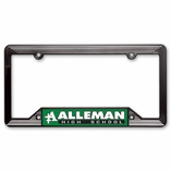 BLACK MOLDED PLASTIC SCHOOL SPIRIT:LICENSE PLATE FRAME