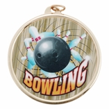 BOWLING MEDAL WITH 2 INCH MYLAR