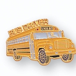 BUS DRIVER PIN ENAMELED