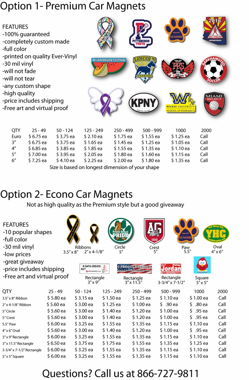 Car Magnet Prices