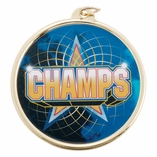 CHAMPS MEDAL WITH 2 INCH MYLAR