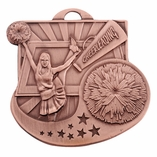 CHEERLEADER MEDAL - MULTIPLE COLORS