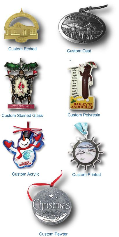 Custom Made Ornaments