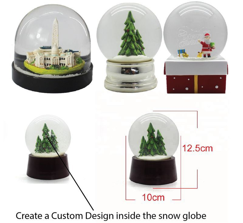 Custom Molded Snowglobes