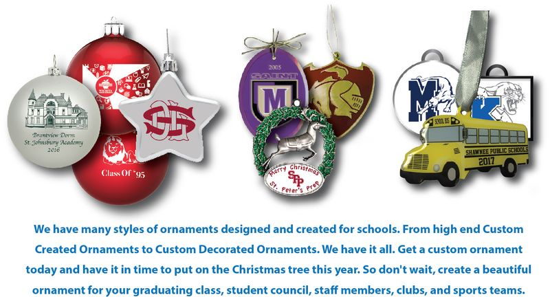 Custom School Ornaments