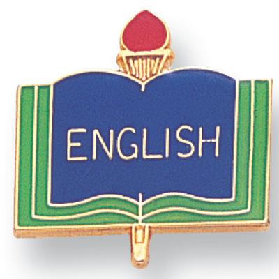 ENGLISH PIN ENAMELED, GOLD