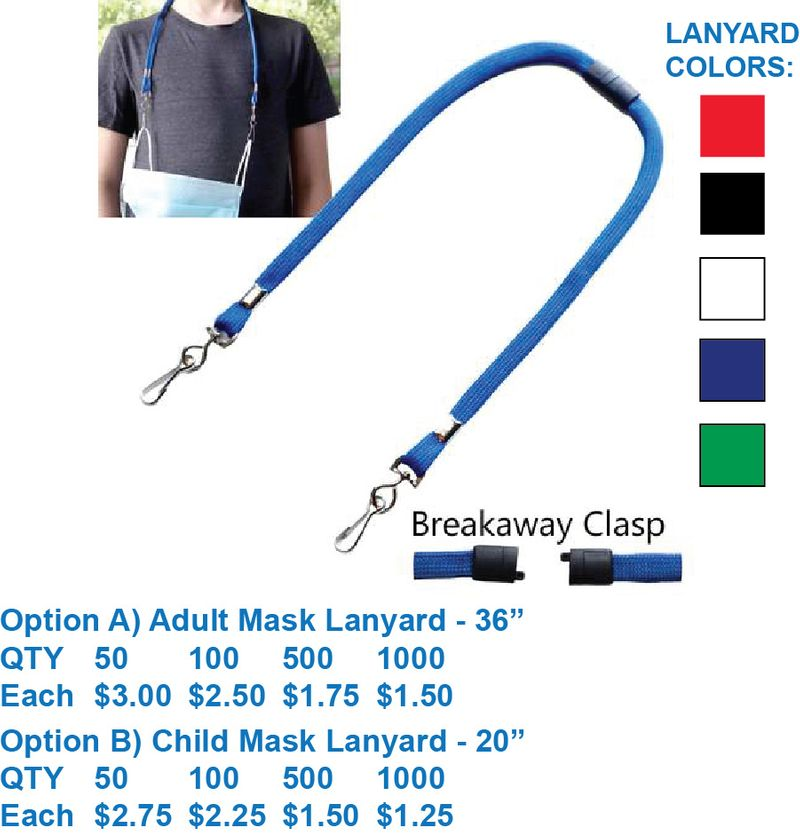 Face Mask Lanyards