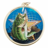 FISHING MEDAL WITH 2 INCH MYLAR