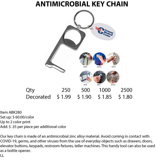 ANTIMICROBIAL KEY CHAIN