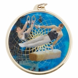 GYMNASTICS MALE MEDAL WITH 2 INCH MYLAR