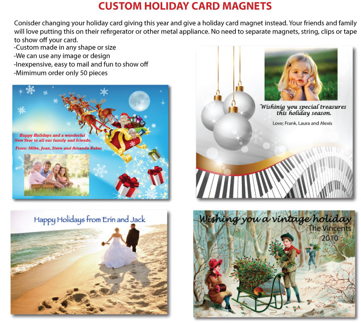 Holiday Card Magnets
