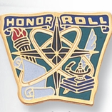 HONOR ROLL PIN ENAMELED