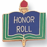 HONOR ROLL PIN ENAMELED GOLD