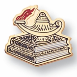 LAMP OF LEARNING PIN ENAMELED