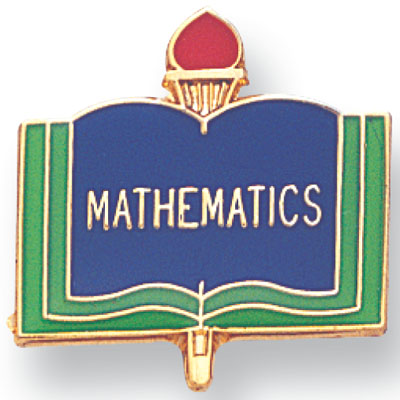 MATHEMATICS PIN ENAMELED, GOLD