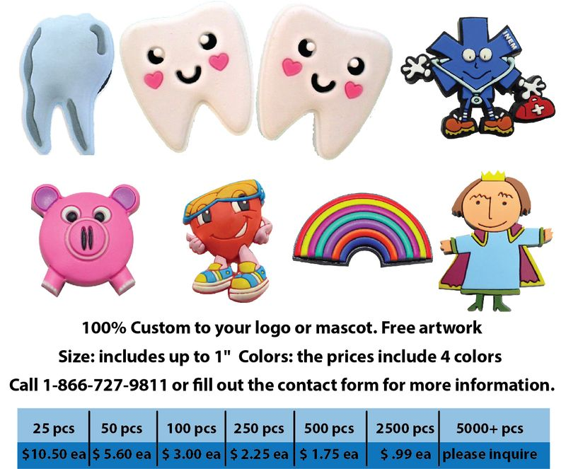 Pediatric Dentistry PVC Clog Charms