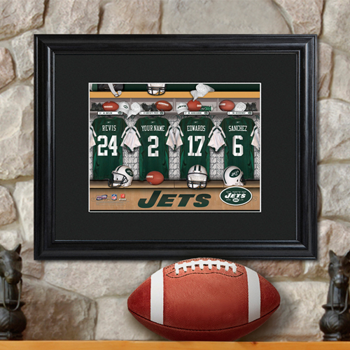 e9f0fcb8383 Personalized NFL Locker Room Print with Matted Frame