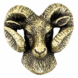 RAM MASCOT PIN ANTIQUE BRASS