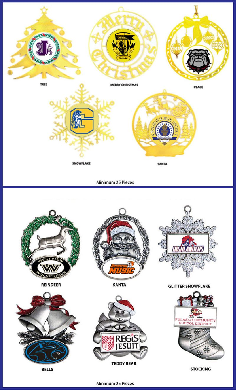 Rush School Ornaments