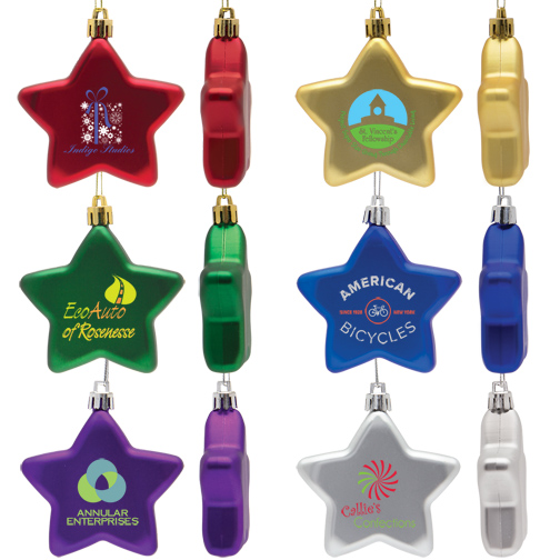 Star Shatter Proof Holiday Ornament