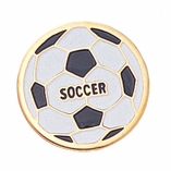 SOCCERBALL ENAMELED PIN GOLD