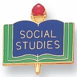 SOCIAL STUDIES PIN ENAMELED