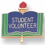 STUDENT VOLUNTEER PIN ENAMELED