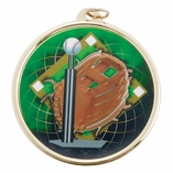T-BALL BASEBALL MEDAL WITH 2 INCH MYLAR
