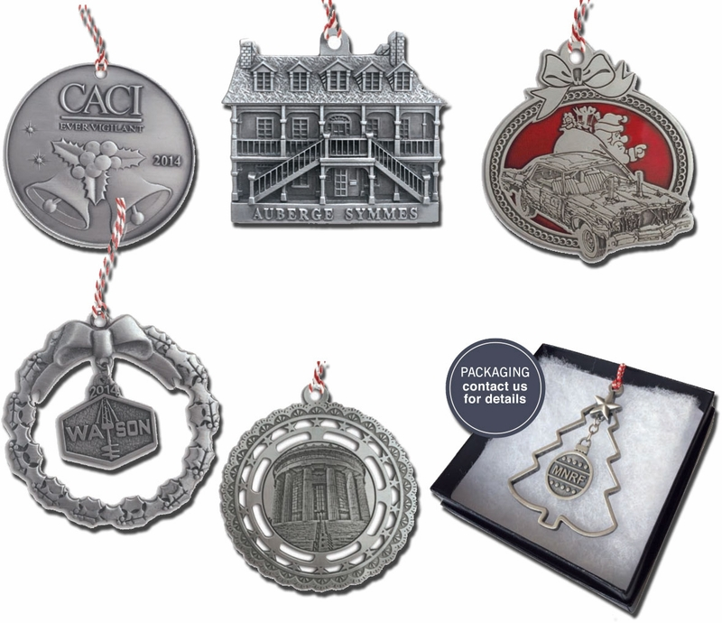 Custom USA Made Pewter Ornaments