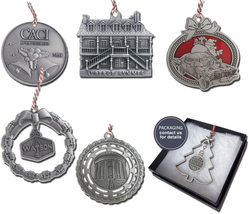 Custom USA Pewter Ornaments