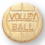 VOLLEYBALL CHENILLE PIN GOLD
