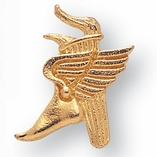 WINGED FOOT TORCH CHENILLE PIN