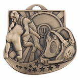WRESTLING MEDAL- MULTIPLE COLORS