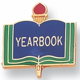 YEARBOOK PIN ENAMELED GOLD