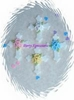 Small  Cross with Blue flower