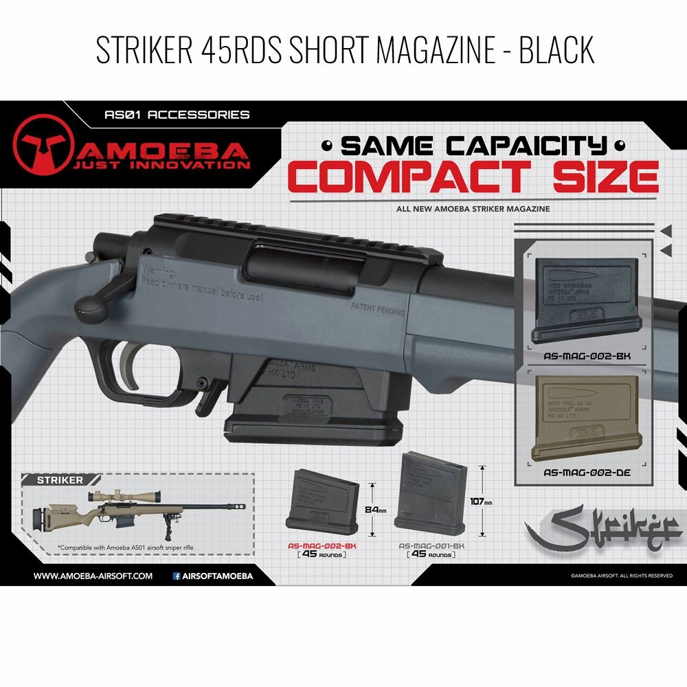 "Amoeba 45rd ""Compact"" Magazine for STRIKER AS01 Sniper Rifle"