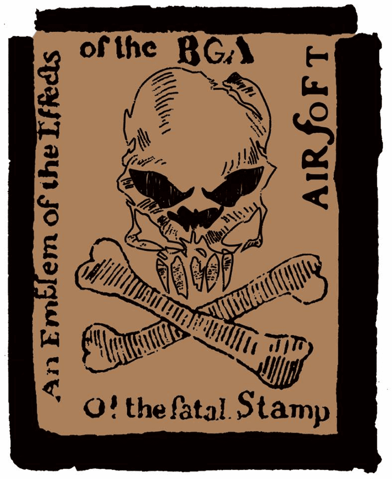 BG Airsoft Limited Edition Fatal Stamp Patch
