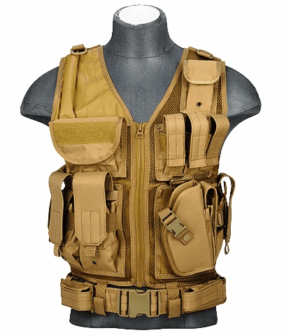 Cross Draw Vest Tan