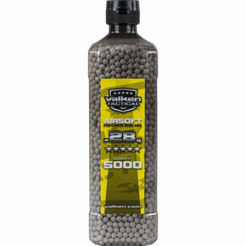 Valken Tactical .28g BB's 5000ct. Bottle