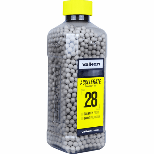 Valken Accelerate .28g BB's 2500ct. Bottle