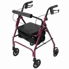 "Aluminum Rollator with 6"" wheels"