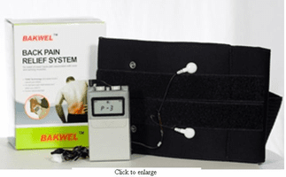 Bakwel™ TENS Unit with Low Back Belt