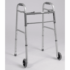 Dual Button Folding Rolling Walker