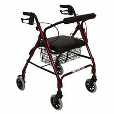 Rollator with Padded Seat with 6 inch wheels