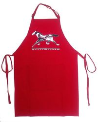 Red Running Pony Full Length Apron