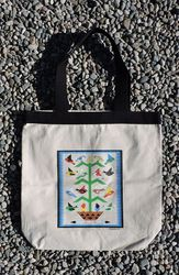 Tewa Tees Tree of Life Cotton Tote- Natural