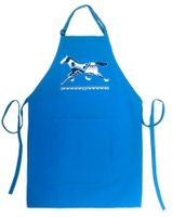 Turquoise Running Pony Full Length Apron