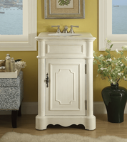 """21 inch Traditional Classic Small Size Bathroom Vanity Antique White Color  (21""""Wx19""""Dx33""""H) CF3006WAW"""