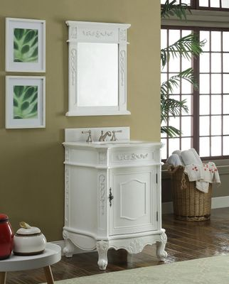 """24 inch Bathroom Vanity Classic Antique White Color (24Wx21.75Dx34""""H) CBWV049WAW"""
