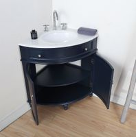 """24 inch Bathroom Vanity for Corner Cottage Beach Style Navy Blue Color (24""""Dx24""""Dx34.5""""H) CGD47588NBC"""